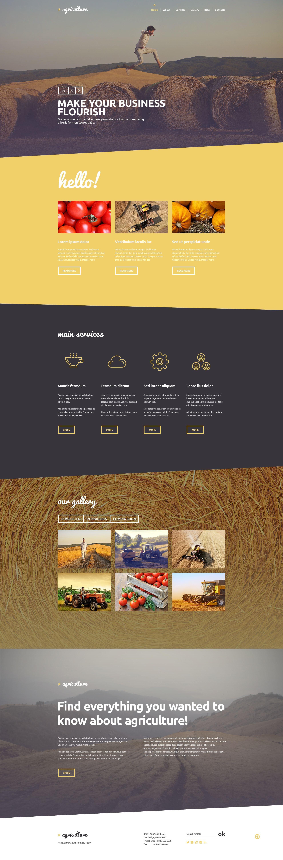 """""""Agriculture"""" - PSD шаблон №55895"""