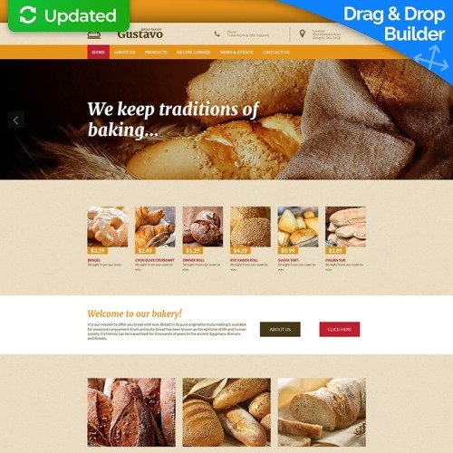 Gustavo - MotoCMS 3 Template based on Bootstrap