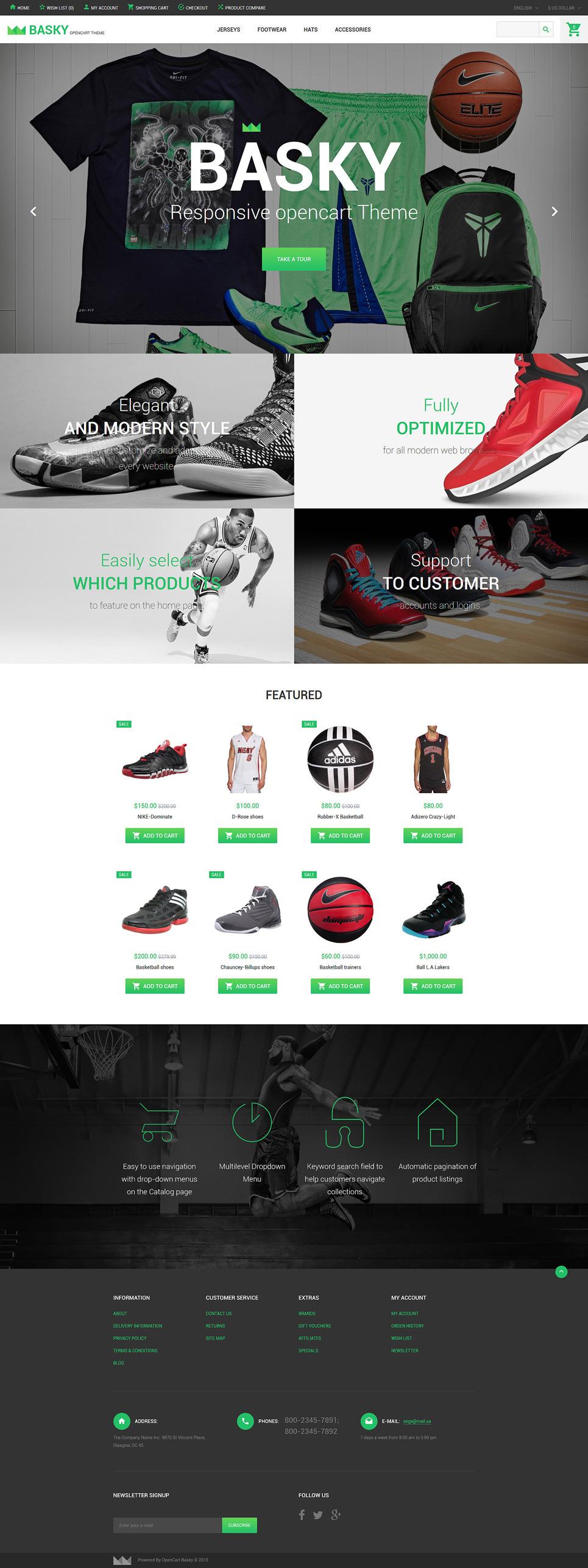 Basky OpenCart Template New Screenshots BIG