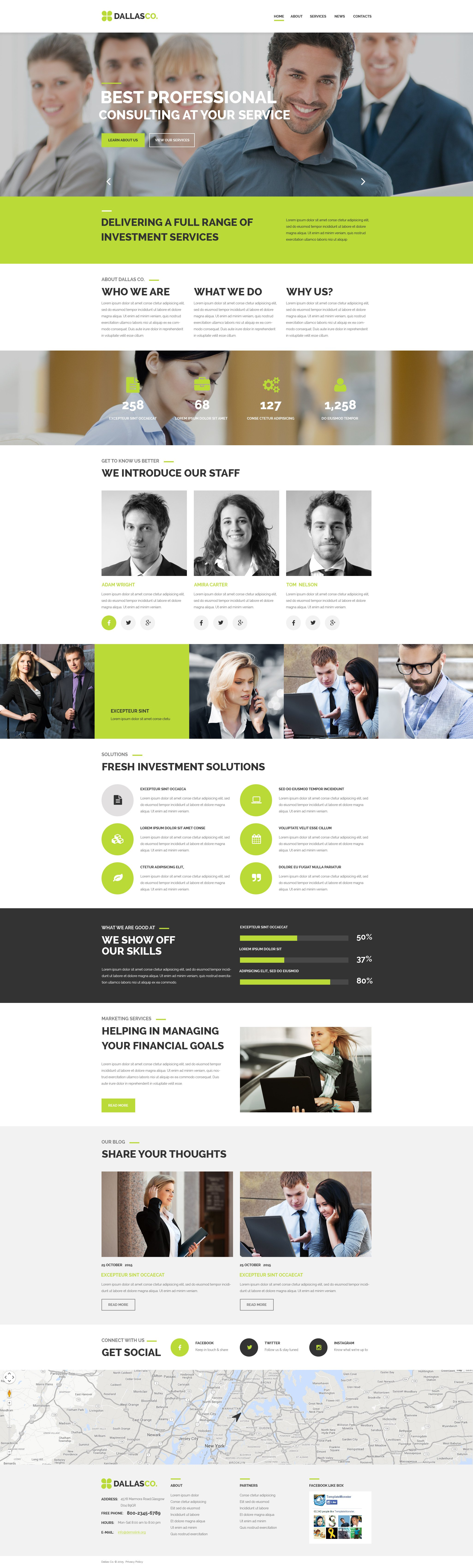 """Business Center"" - PSD шаблон №55897 - скріншот"