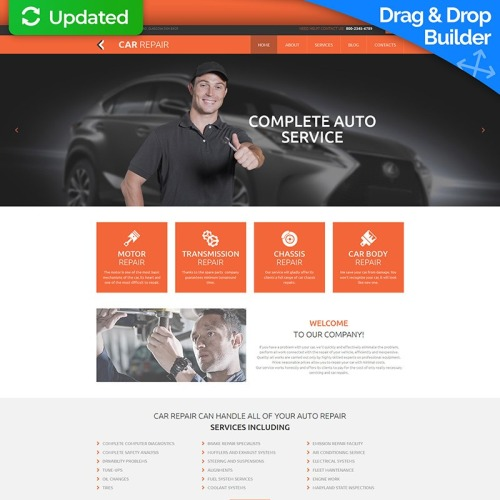 Car Repair - MotoCMS 3 Template based on Bootstrap