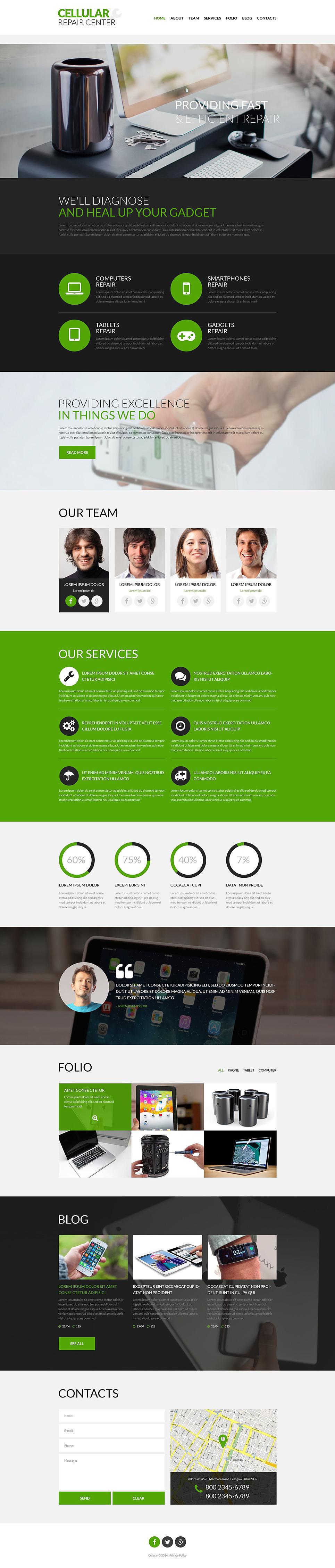 Celluar Repair Center PSD Template New Screenshots BIG