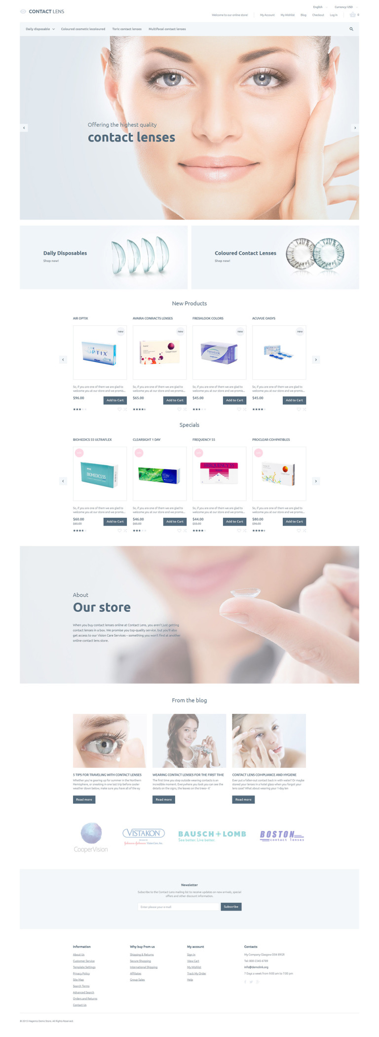 Clear Vision Magento Theme New Screenshots BIG