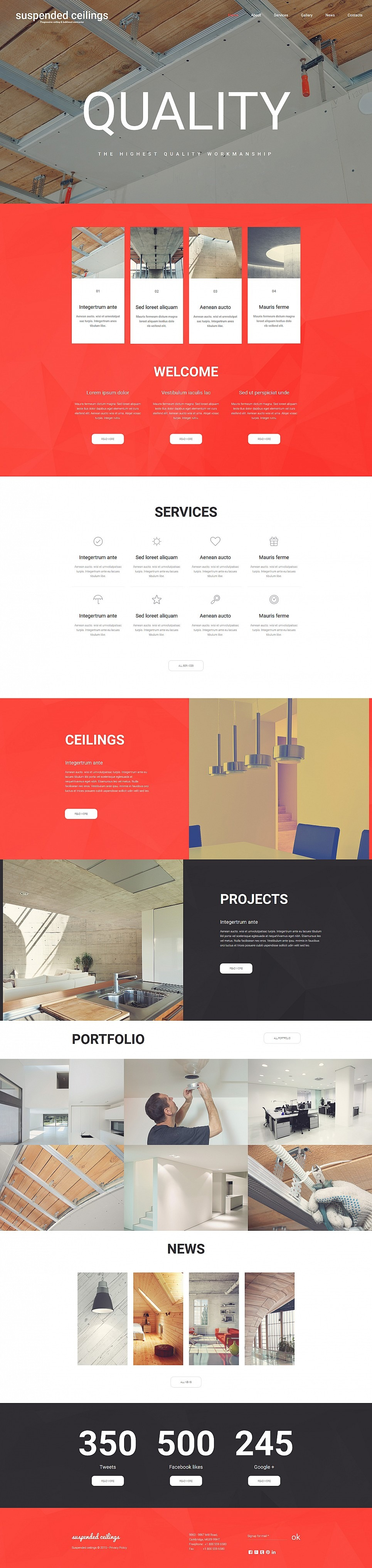Construction Company Responsive Moto CMS 3 Template New Screenshots BIG