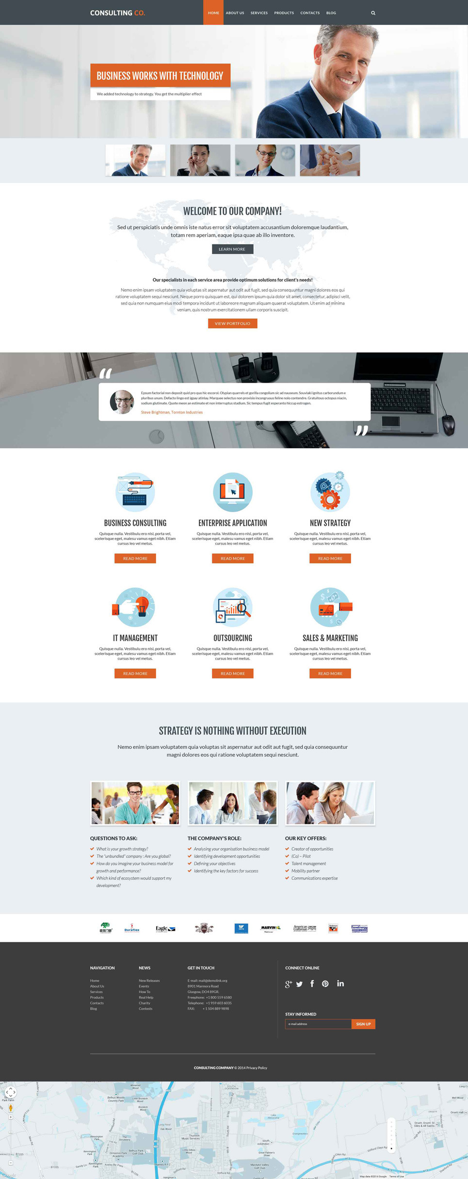 Consulting Company PSD Template New Screenshots BIG