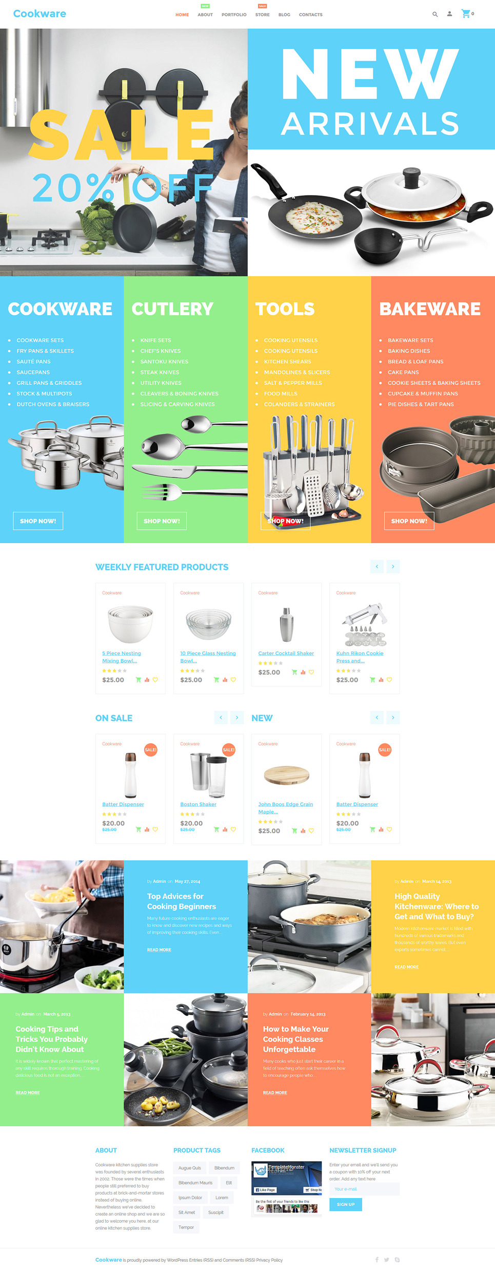 Cookware WooCommerce Theme New Screenshots BIG