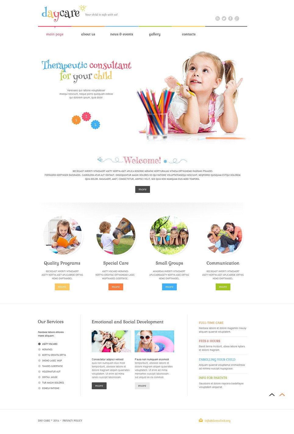 Day Care PSD Template New Screenshots BIG