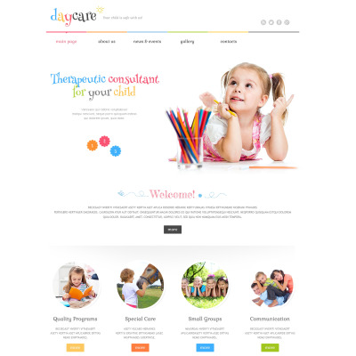 Day Care PSD Template #36505