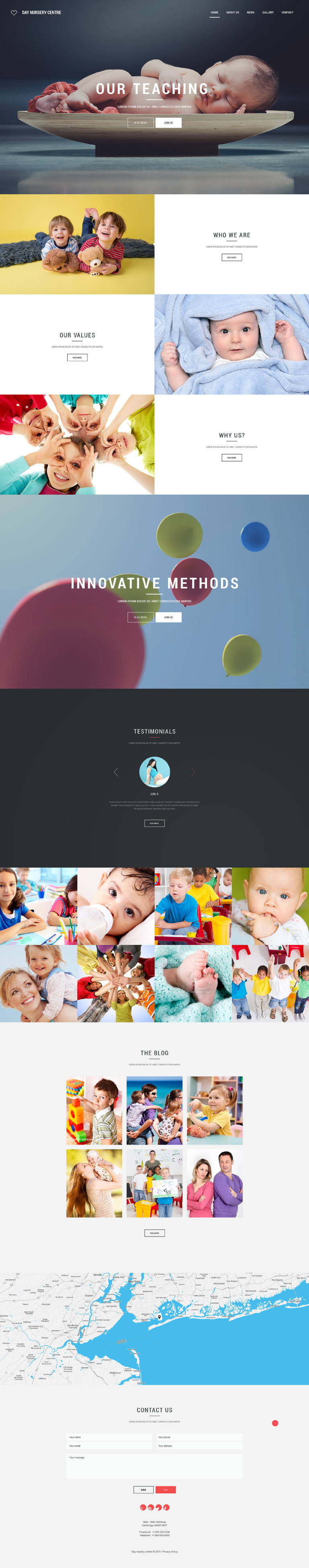 Day Nursery Centre Website Template New Screenshots BIG