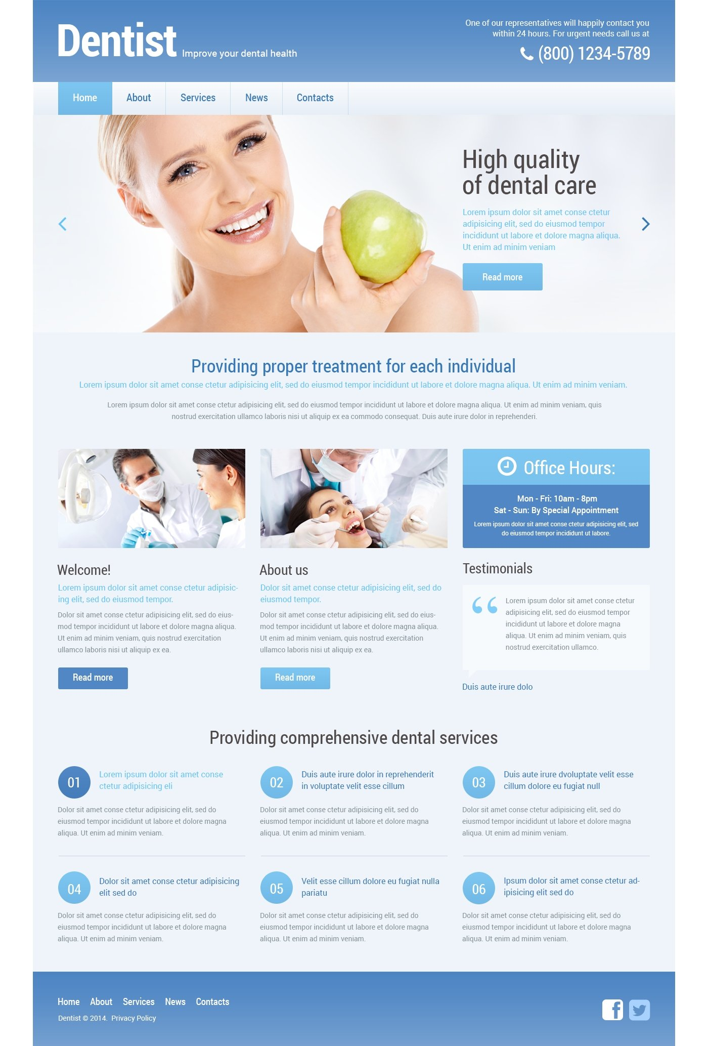 dentist psd template 55825
