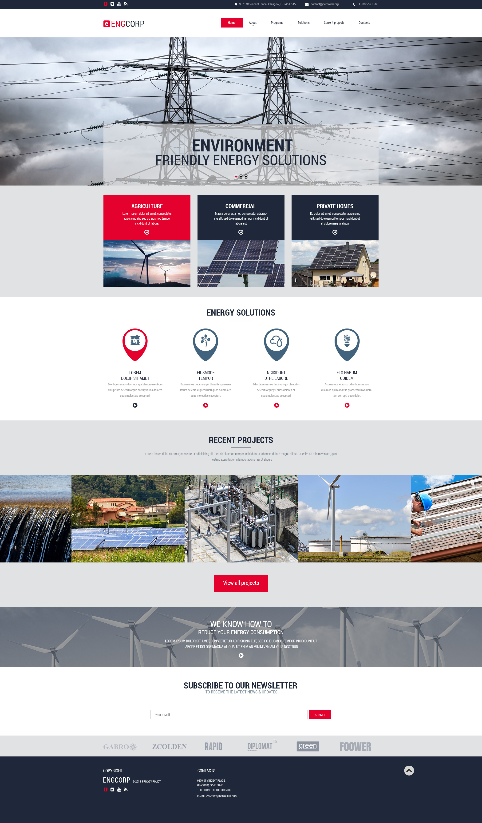 Engcorp PSD Template - screenshot
