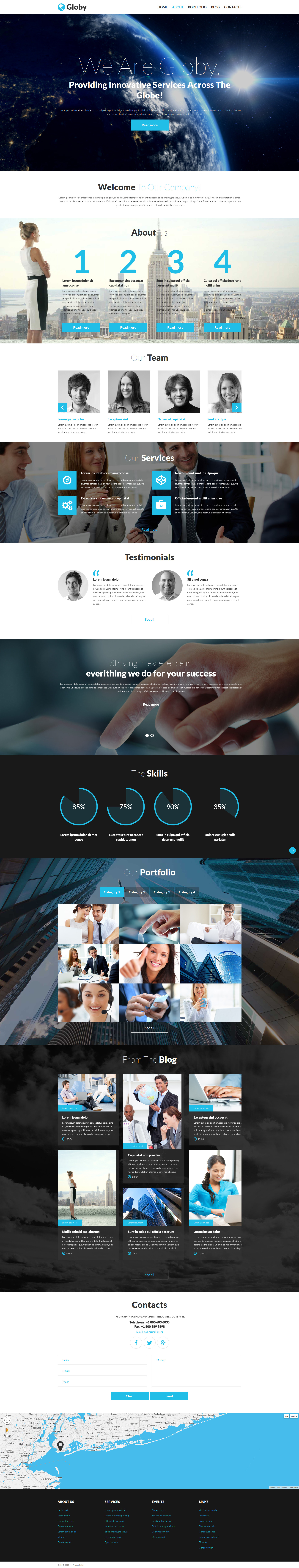 Globy PSD Template