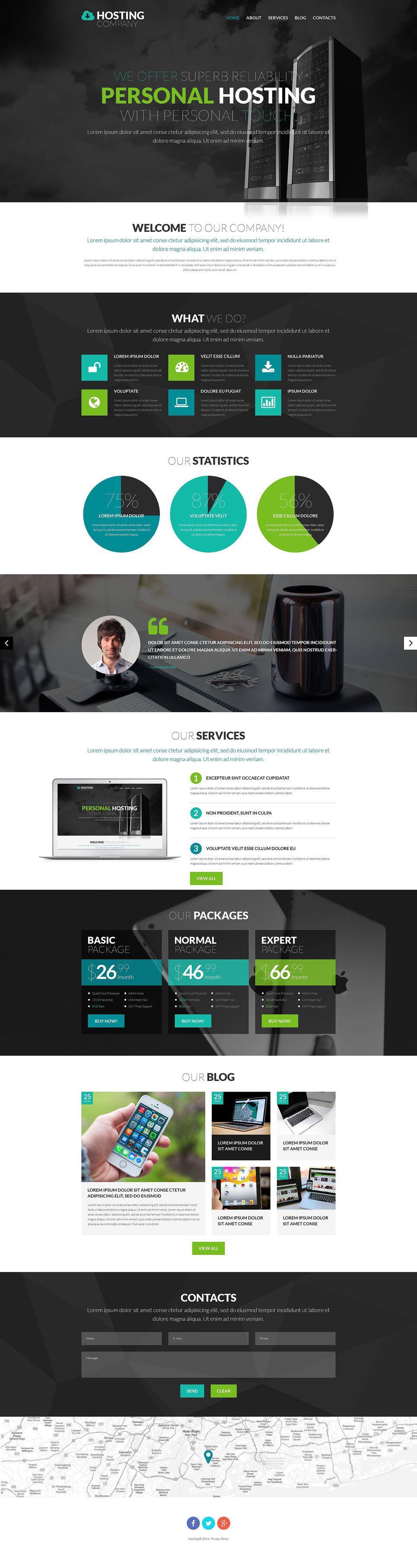 Hosting Company PSD Template New Screenshots BIG
