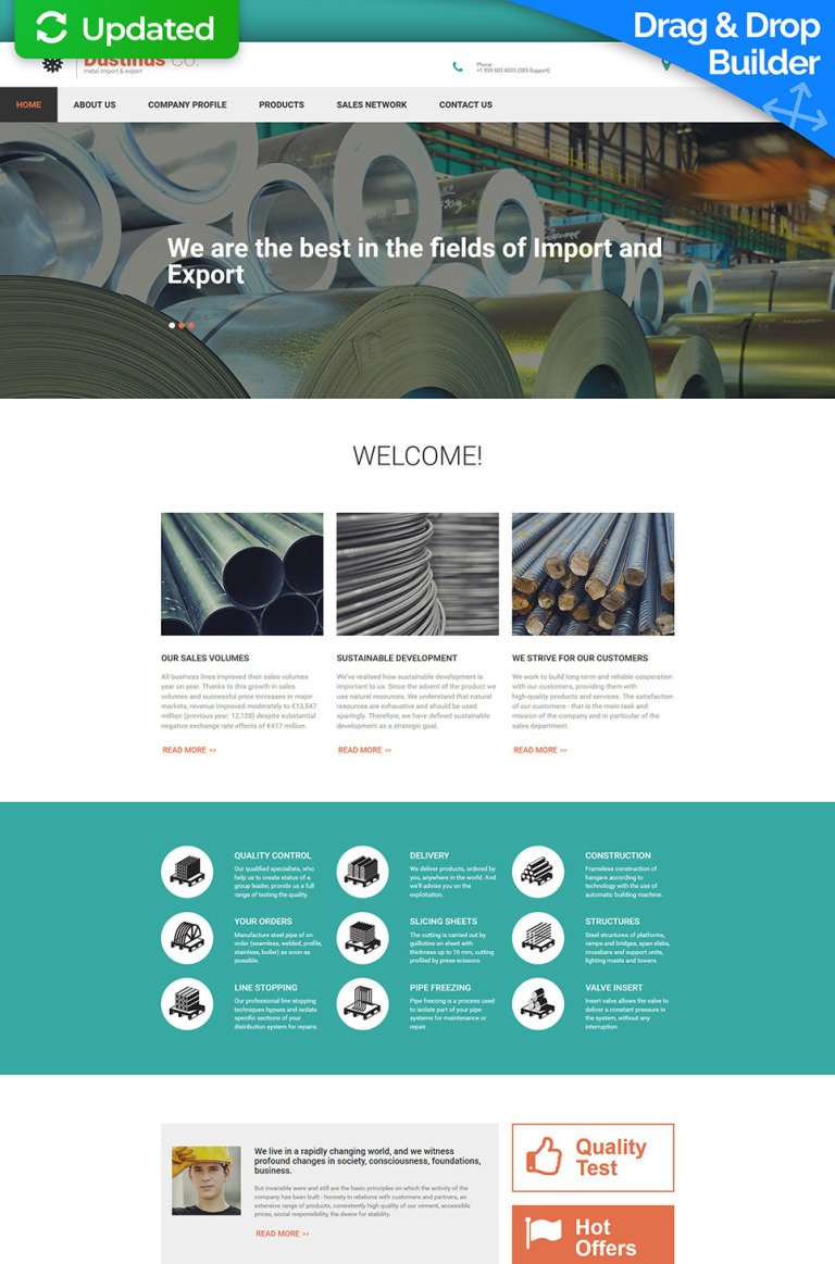 Industrial Responsive Moto CMS 3 Template New Screenshots BIG