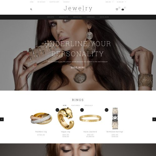 Jewelry  - OpenCart Template based on Bootstrap