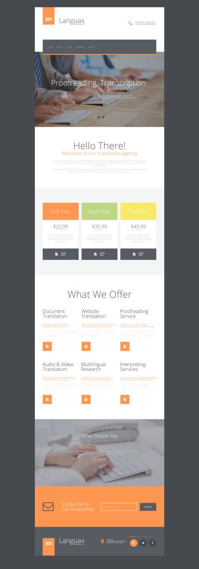 Modèle Web adaptatif  pour un bureau de traduction