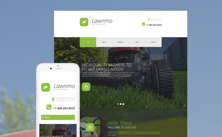 Lawnmo WordPress Theme