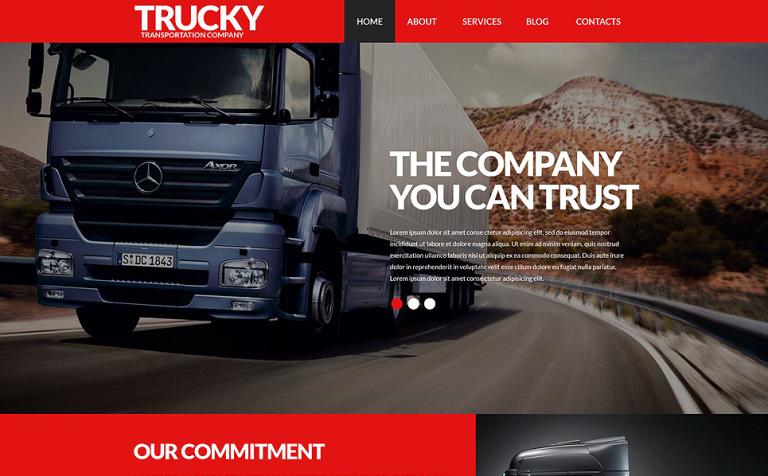 Logistics Company PSD Template