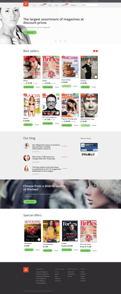 Magazine Responsive Shopify Thema