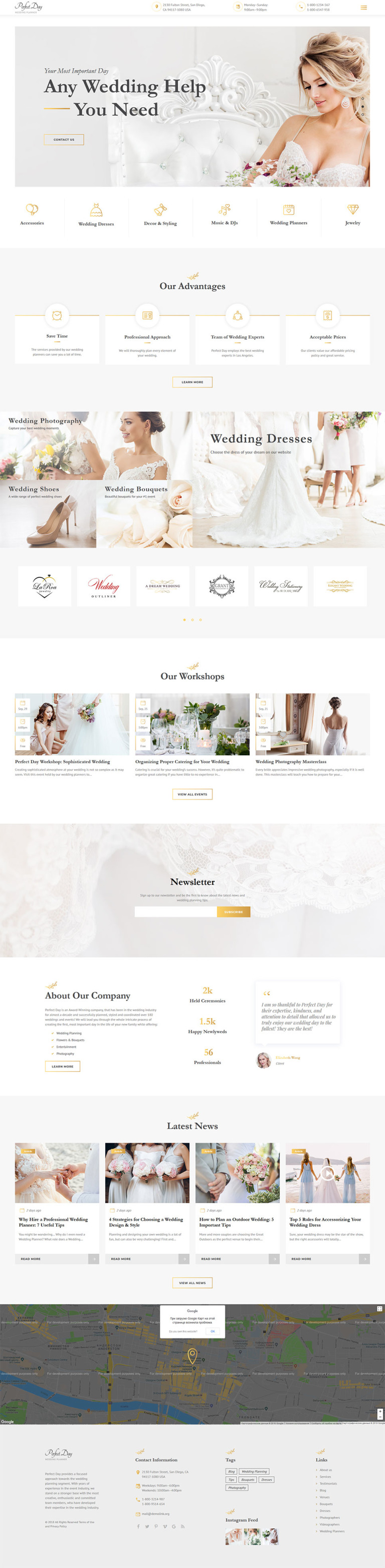 Perfect Bride Website Template New Screenshots BIG