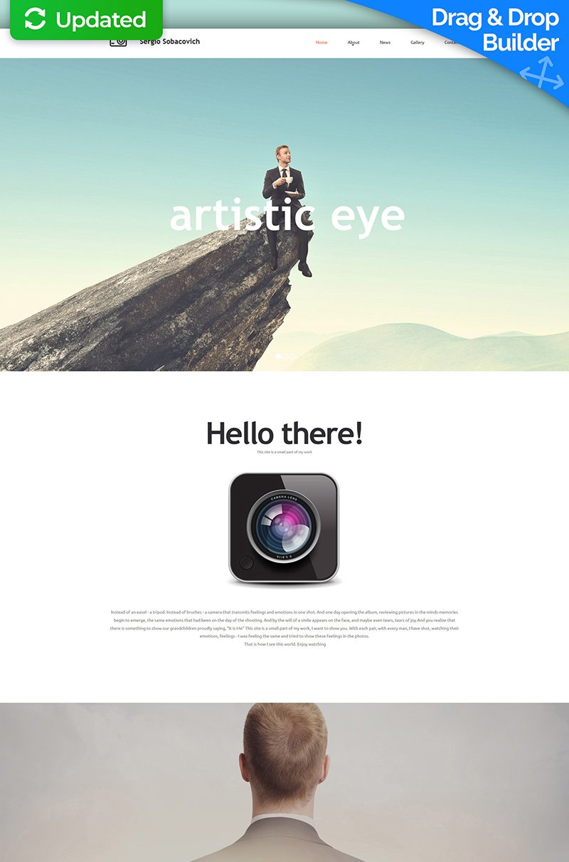 Photographer Portfolio Responsive Moto CMS 3 Template - screenshot
