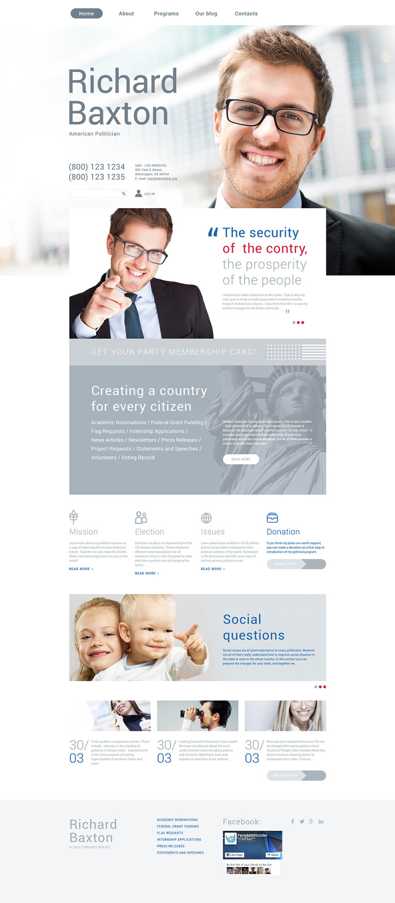 Political Trust Drupal Template New Screenshots BIG