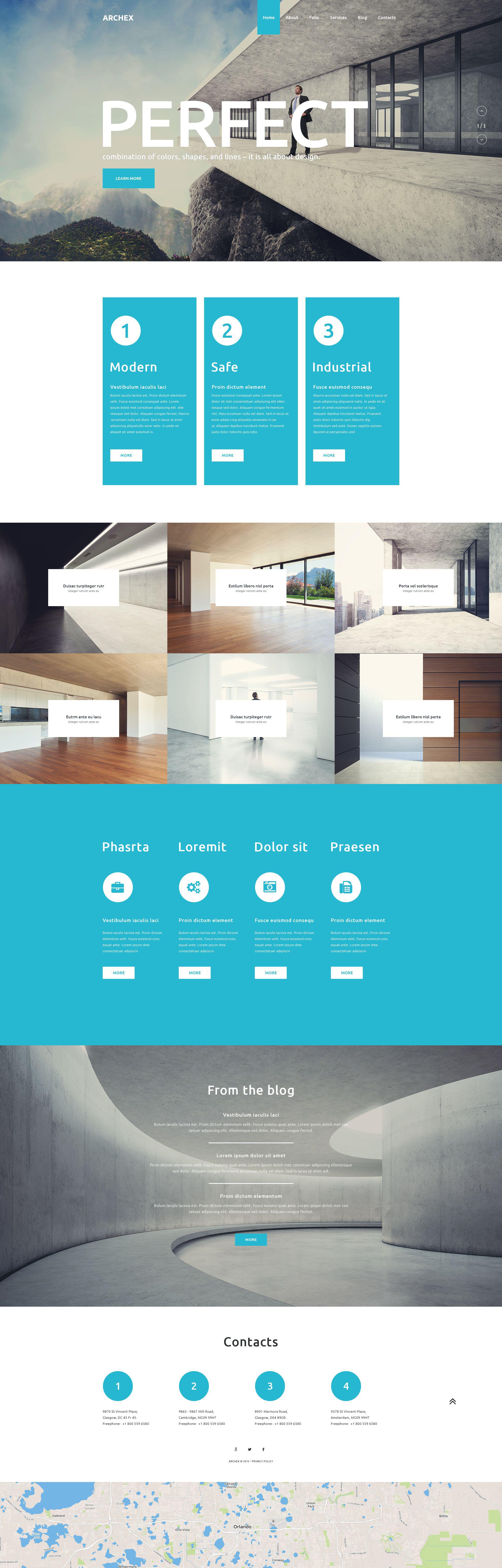"""PSD Vorlage namens """"Architex"""" #55885"""