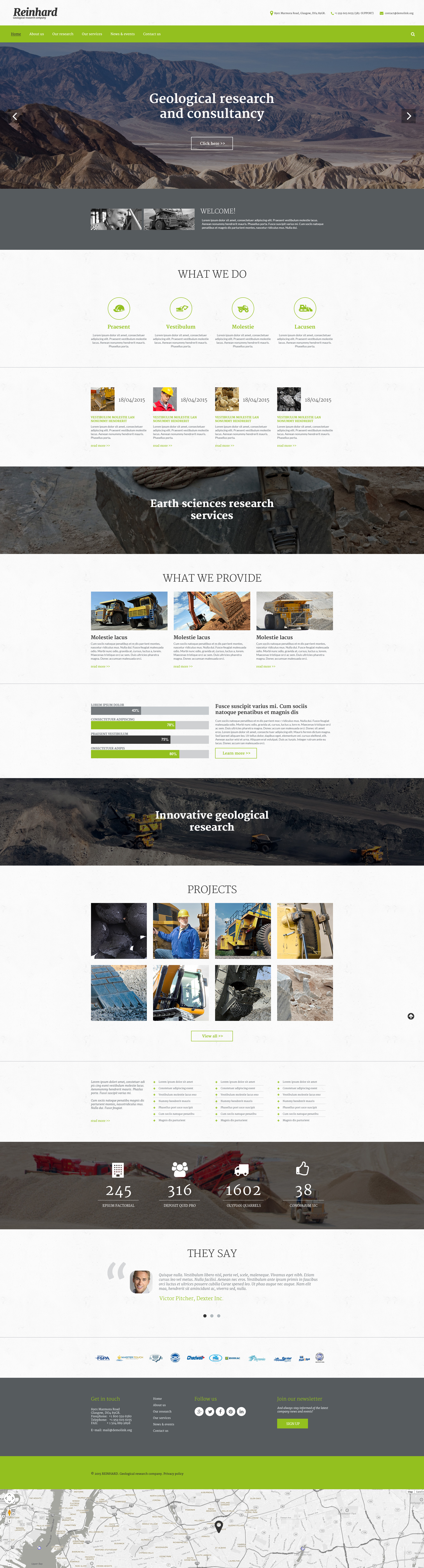 Reinhard Template Web №55803 - screenshot