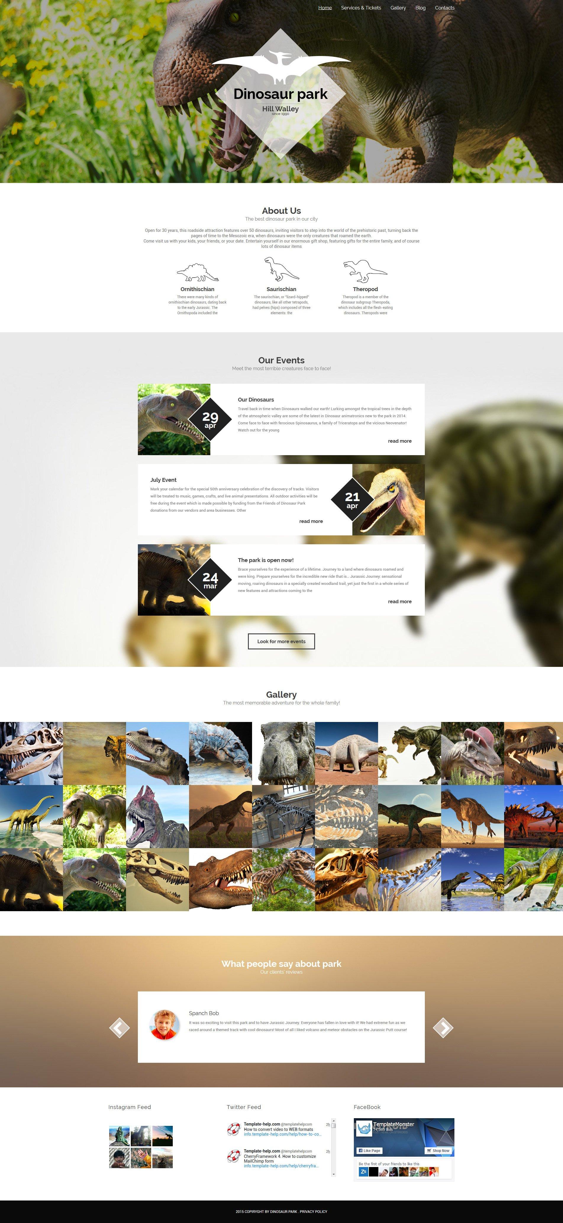 Responsive Dinosaur Park Wordpress #55806