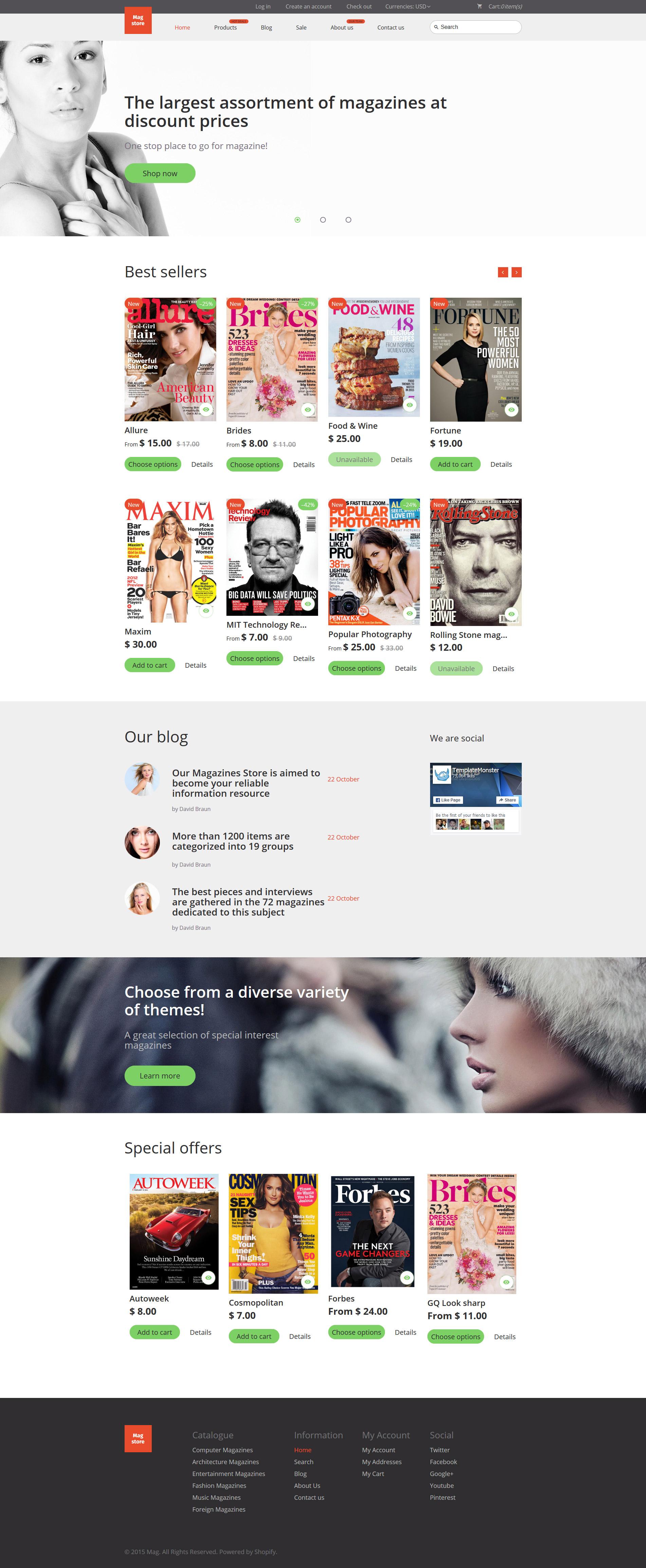 Responsywny szablon Shopify Mag Store #55810