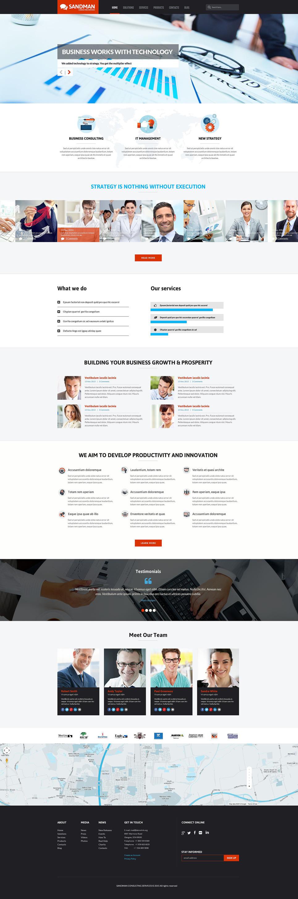 Sandman PSD Template New Screenshots BIG
