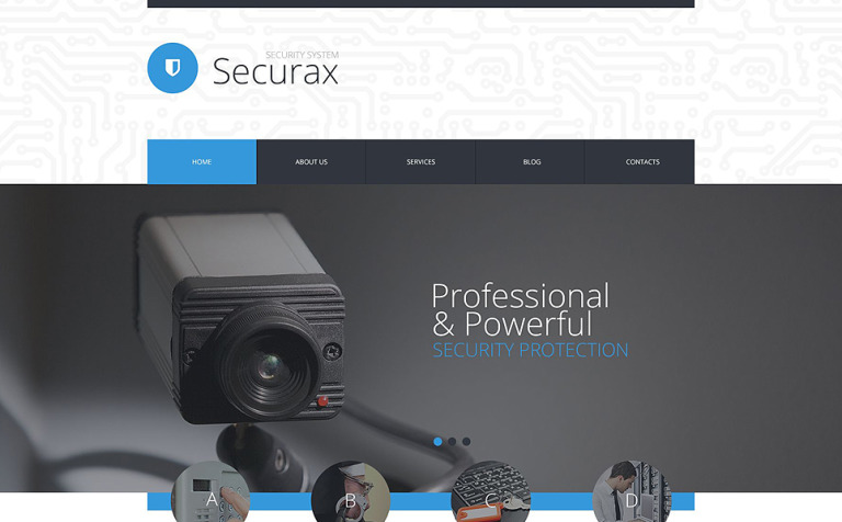 Security System PSD Template