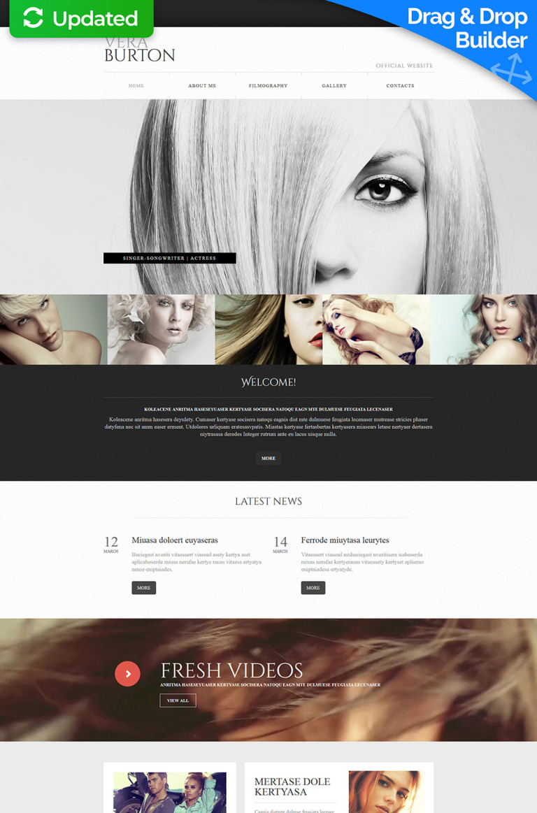Singer Responsive Moto CMS 3 Template New Screenshots BIG