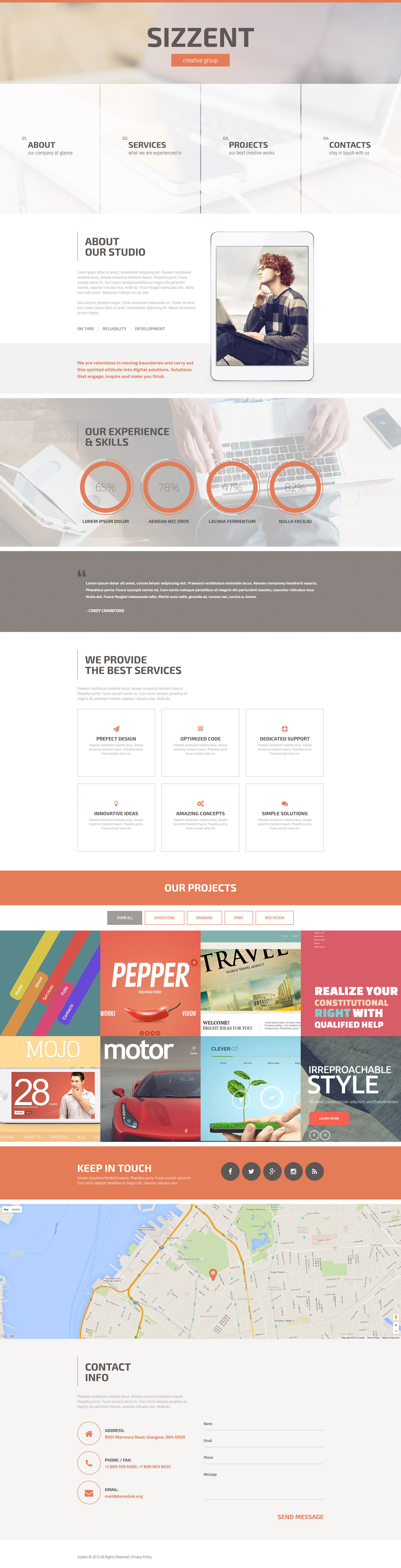 Sizzent Website Template