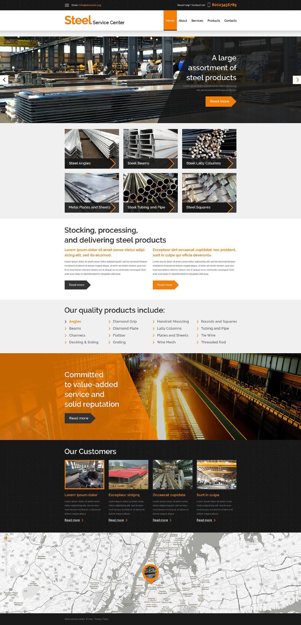 Steel Service Center PSD Template New Screenshots BIG