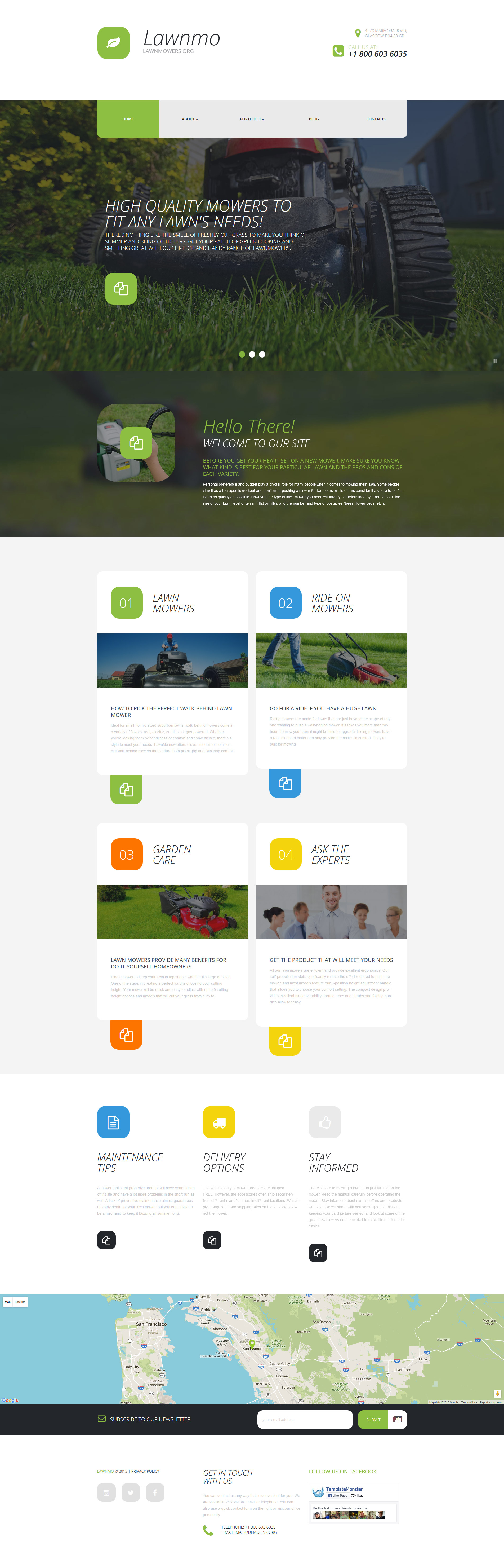"Tema De WordPress ""Lawnmo"" #55819"