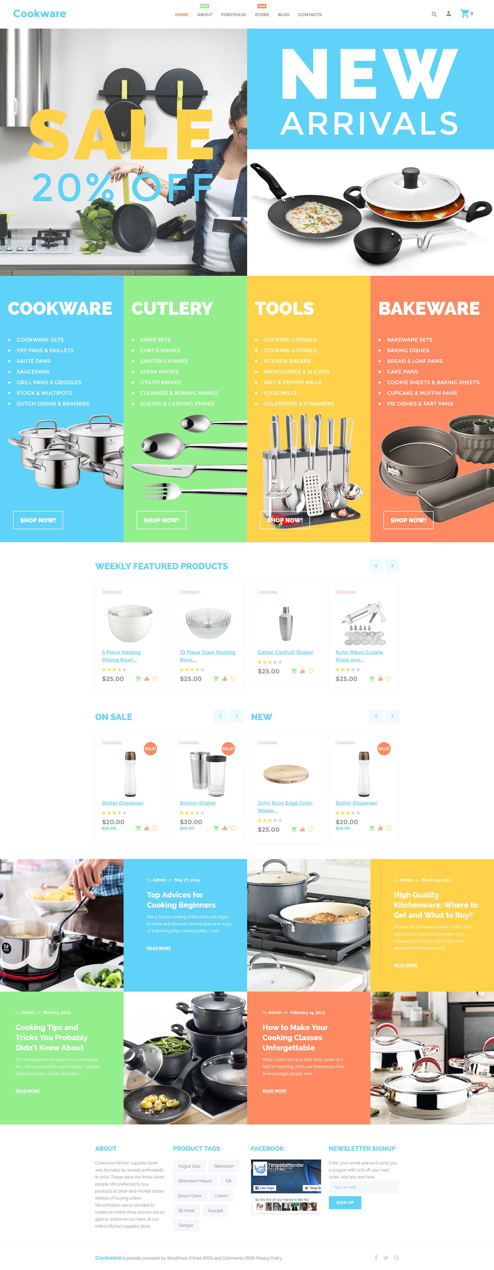 """Tema WooCommerce """"Cookware"""" #55898"""