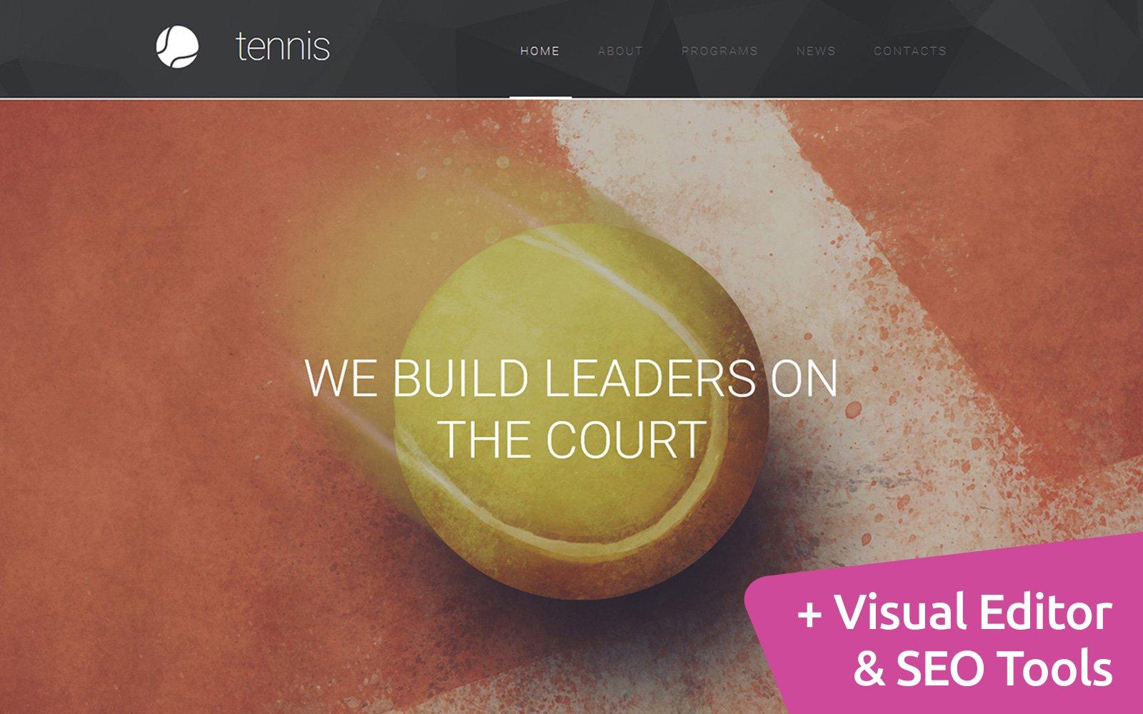 "Template Moto CMS 3 Responsive #55849 ""Tennis Club"""