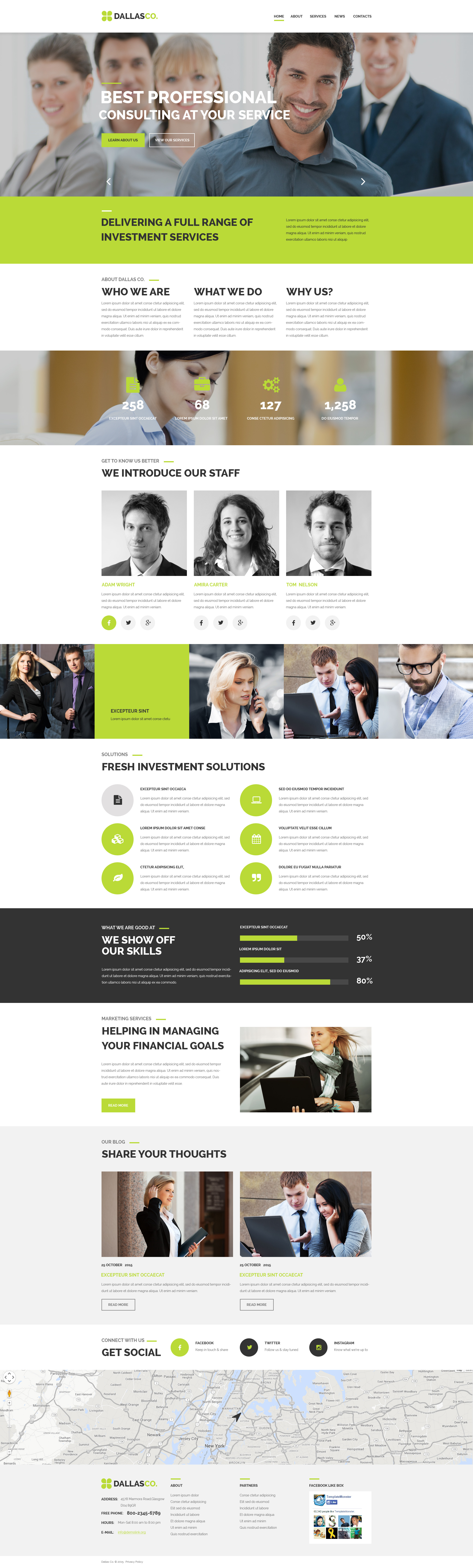 """Template PSD #55897 """"Business Center"""" - screenshot"""