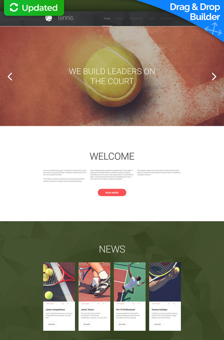 Tennis Responsive Moto CMS 3 Template New Screenshots BIG