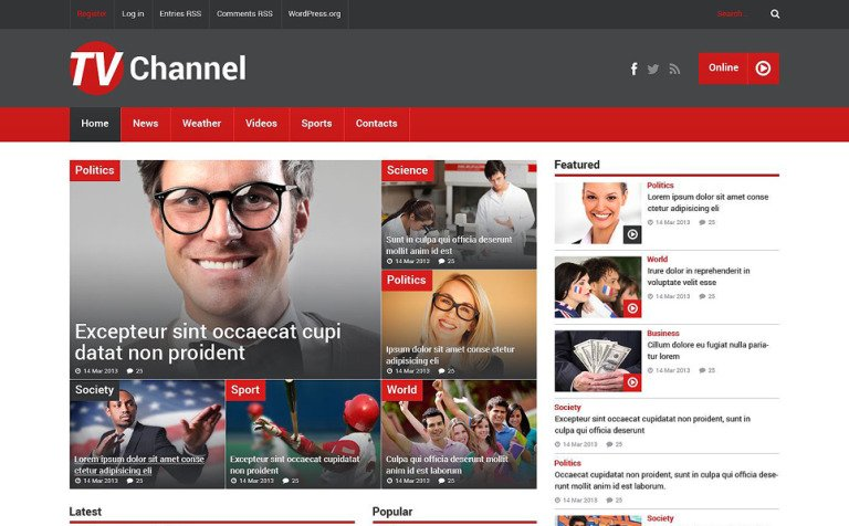TV Channel PSD Template