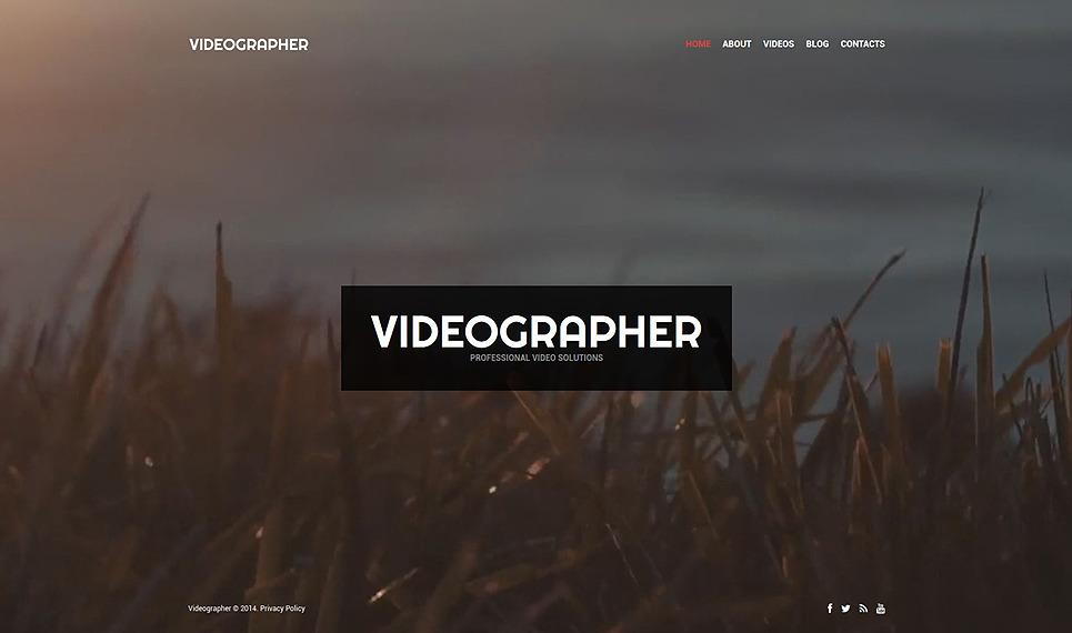 Videographer PSD Template New Screenshots BIG