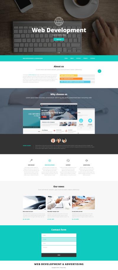 Web Development PSD Template #56813