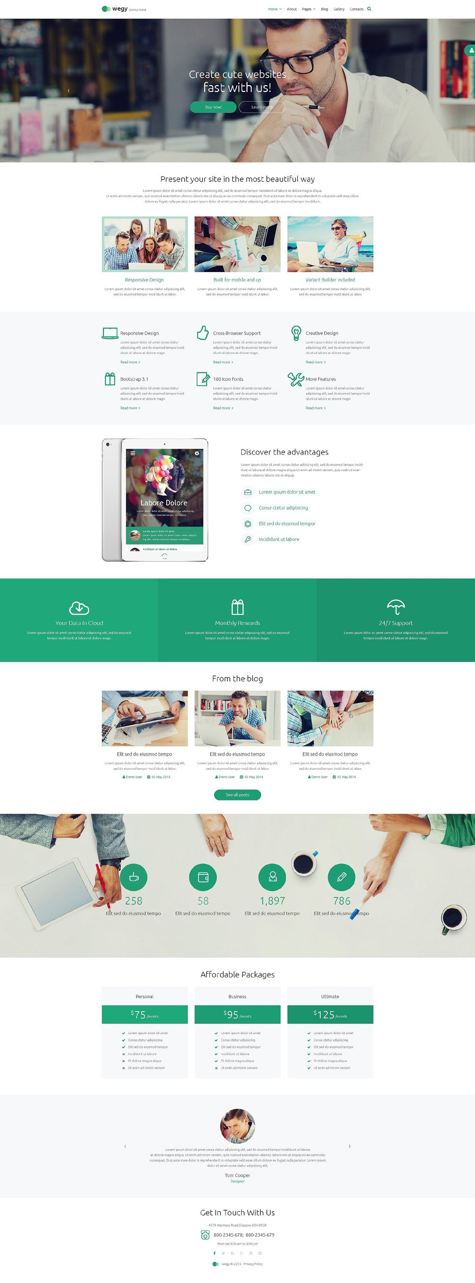 Wegy PSD Template New Screenshots BIG