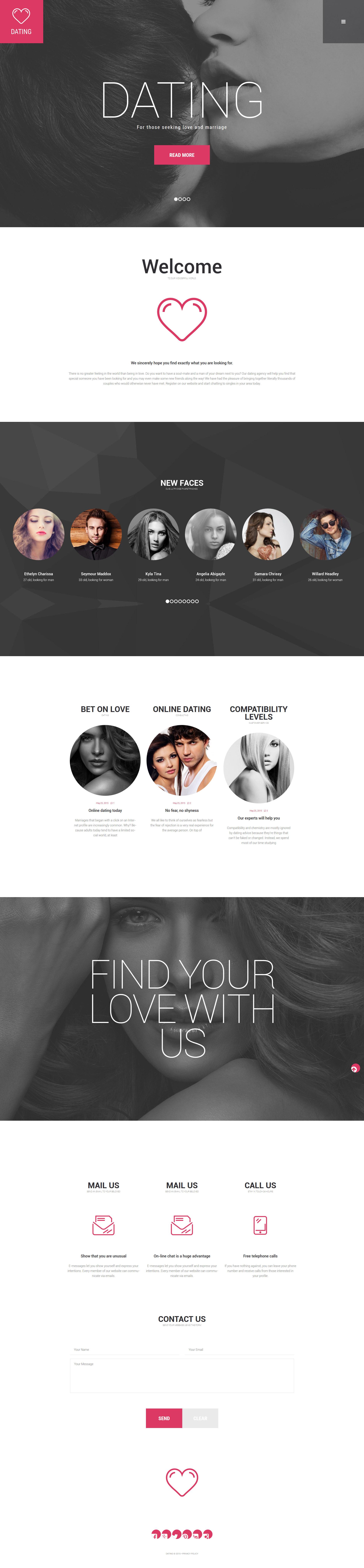 "WordPress Theme namens ""Dating Agency"" #55820"