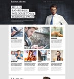 Personal Page PSD  Template 55915
