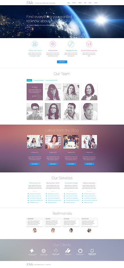 ADOBE Photoshop Template 55931 Home Page Screenshot