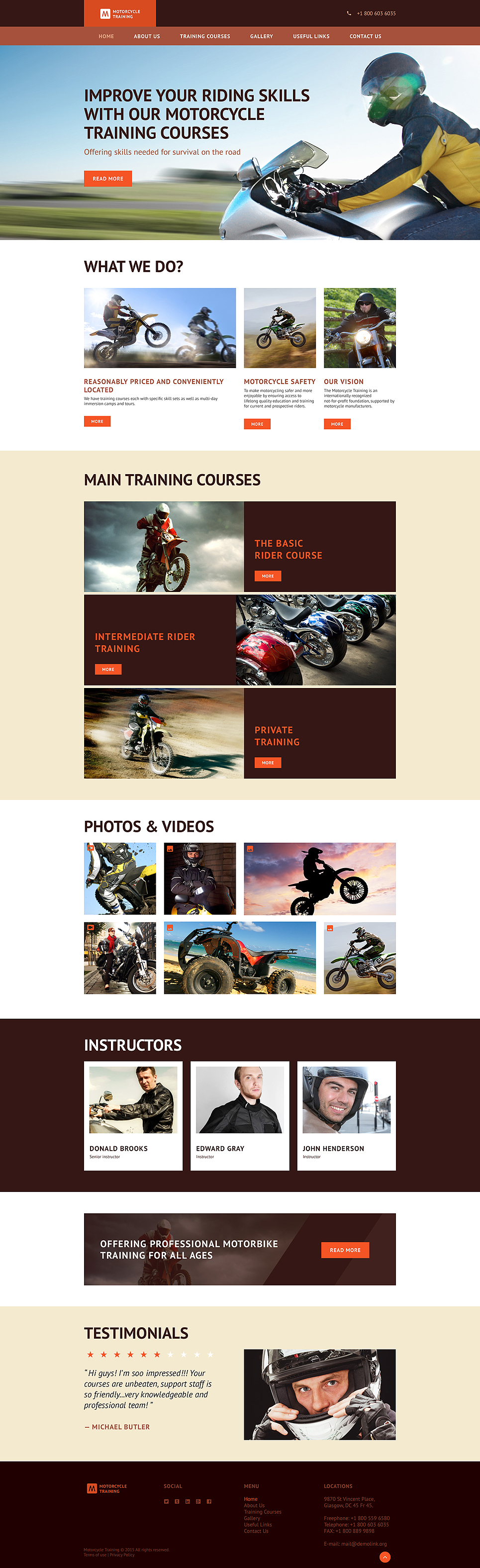 Motorcycle Training template illustration image