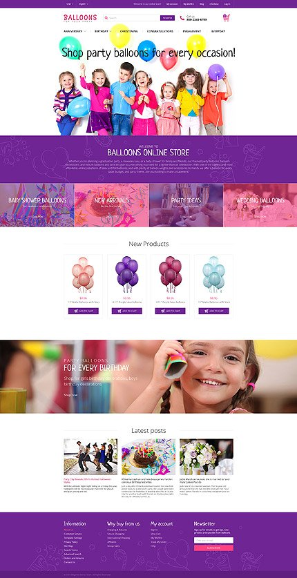 Magento Theme/Template 55954 Main Page Screenshot