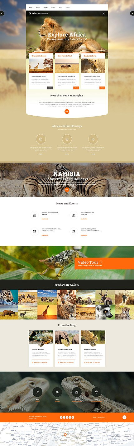 Joomla Theme/Template 55957 Main Page Screenshot